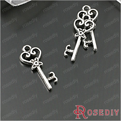 (27910-G)15PCS 21*9MM Zinc Alloy Antique Silver Key Charms Pendants Diy Jewelry Findings Accessories Wholesale Free Shipping(China (Mainland))