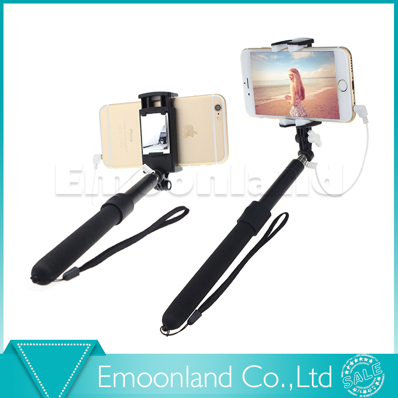 W03 Cable Shutter Self Stick to Selfi Palo de Selfie with Remote Control Selfiestick Smartphone Monopod for Android iOS iPhone(China (Mainland))