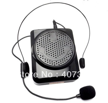 Free Shipping Portable PA Microphone Voice Loud Booster Amplifier Teaching Speaker Waistband U disk/ TF SD card insert/PC MP3 4