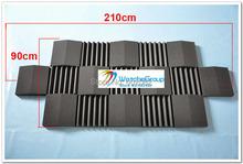 17 шт 30 * 30 * 7,5 см черный цвет акустическая пена клин студия звукоизоляция пена плитка для стен акустический студия пена амортизаторы