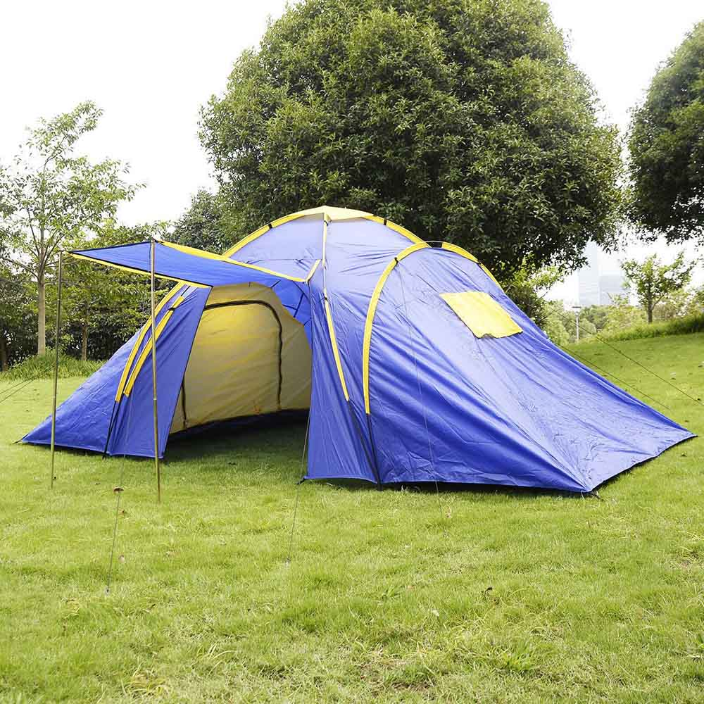 Waterproof UV Outdoor Hiking Tents 4-5 person Camping Tent 2+1 Room with Carrying Bag for Outdoor Camping Family Tent GOPLUS(China (Mainland))