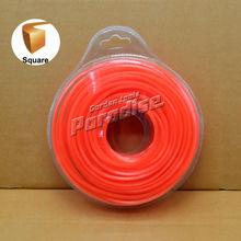 0.095 ' 2.4 mm Diamemeter herramientas herramientas cuadrado podadora Nylon línea Color naranja tarjeta de la ampolla embalaje
