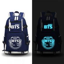 Buy High 2017 New Fashion BTS Printing Women Backpack Canvas School Bags Teenage Girls Laptop Back Pack Mochila Feminina for $31.96 in AliExpress store