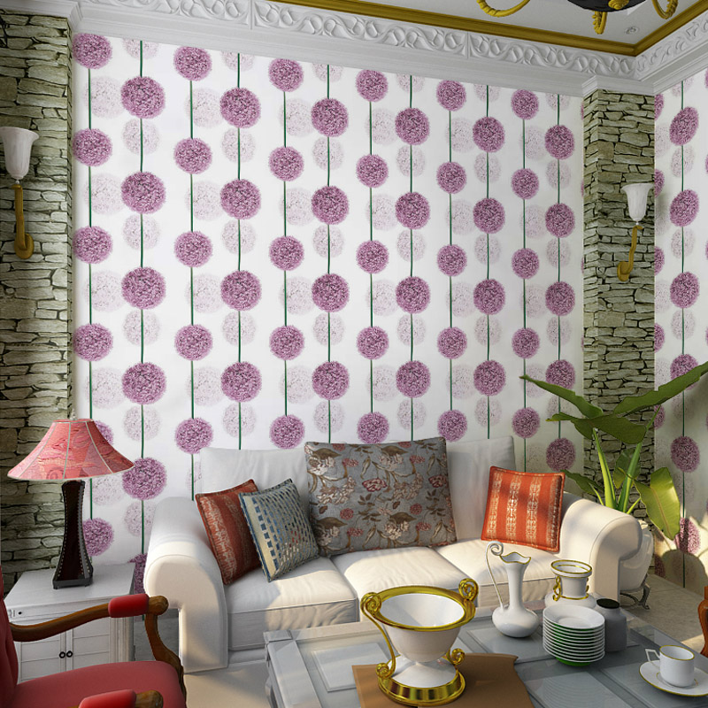 pvc tapete rustikalen tapete lila blume tv hintergrund wand in produkt option listebeachten sie. Black Bedroom Furniture Sets. Home Design Ideas