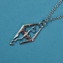 2014 new dinosaur Skyrim Elder Scrolls dragon pendant necklace Popular personalized jewelry LM N118