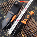 Multifunction Tactical Straight Knife Fixed Blade Knives Outdoor Survival EDC Pocket Tools with Whistle Grindstone ABS