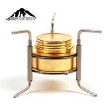 2015 New Stainless Steel Portable Mini Ultra-light Spirit Alcohol Stove Outdoor Camping fire maple stove Furnace with Stand