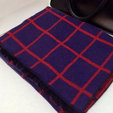 2016 Women Gril Blanket Oversized font b Tartan b font Scarves Wraps Plaid Checked Tassel Pashmina