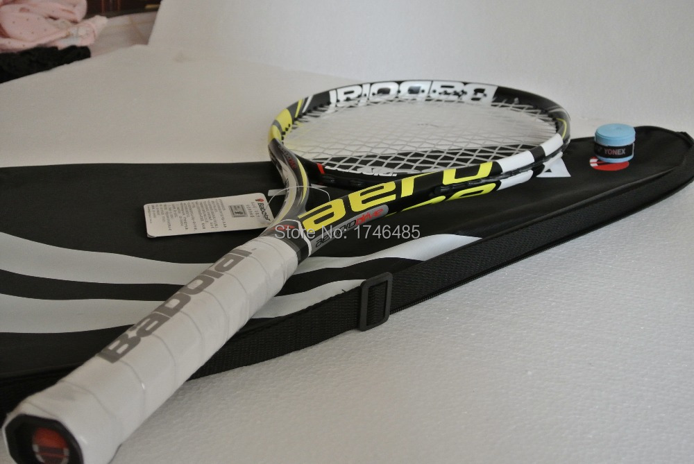 Aero Pro Drive GT 2015 Tennis Racket 100% Carbon GT Tennis Racquets Equipped With String And Bag Tennis Grip Size:L2,L3,L4(China (Mainland))