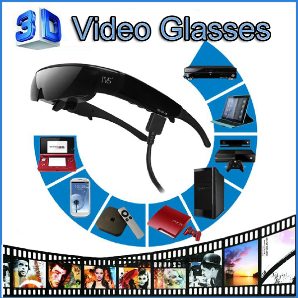 New Arrival ! Electronic Gadget 98 inch 3D goggles support 1080p mobile theatre virtual display video glasses(China (Mainland))