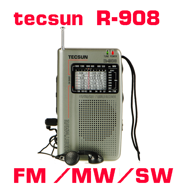 TECSUN R-908 AM/ FM / SM / MW (11 bands) Multi Bands Radio Receiver Broadcast With Built-In Speaker R908 radio(China (Mainland))