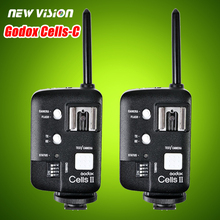 2pcs Godox Cells II 1/8000s Wireless Transceiver Trigger Kit for Canon EOS Camera, Speedlite and Studio Flashes V850 V860 AD360(China (Mainland))