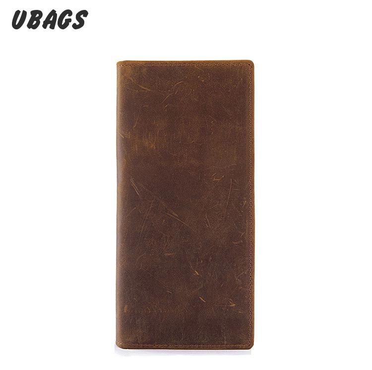 Men Long Wallet First Layer Leather Purse For Men And Women Crazy Horse Retro Style Wallets<br><br>Aliexpress