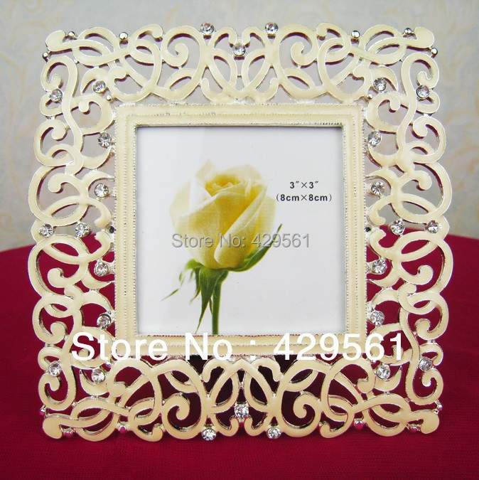 wedding decorative silver glass photo frame / glass picture frames 3*3 3 inches 8*8 cm(China (Mainland))