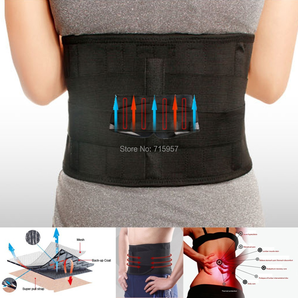 Lumbar Support Brace Hot Sale Fashion Breathable Mesh Four Steels Plate Protection Back Waist Support Belt(China (Mainland))