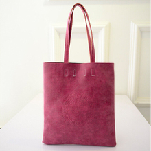 2015 New Arrival Women Tote Women s Shoulder bags PU Matte Leather Lady s Scrub Handbag