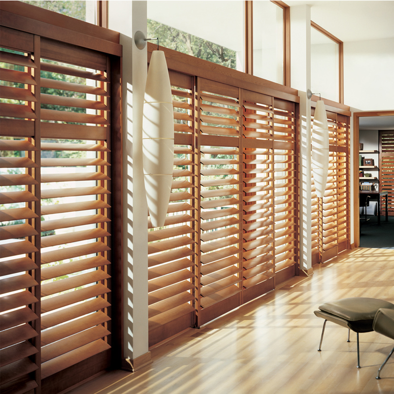 Wood sliding door shutter activity folding partition blinds custom(China (Mainland))