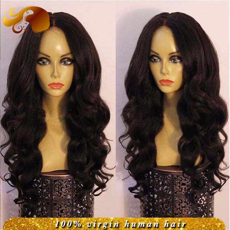 Фотография Best Wavy Full Lace Human Hair Wigs For Black Women 7A Brazilian Virgin Hair Lace Front Wigs With Baby Hairs Stock