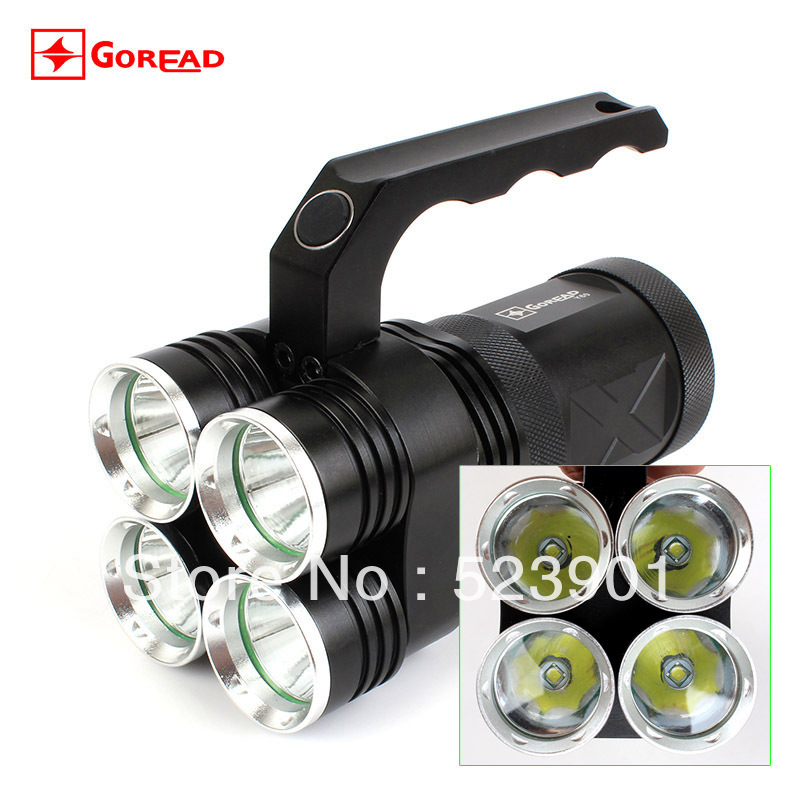 High Power 4 XM-L T6 Led Glare Flashlight Bicycle Headlight Hiking Camping Fishing Light Portable Miner Torch Headlamp - Best Seller Online Market store