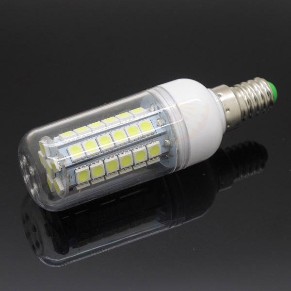 E14 SMD 5050 48 LEDs Lamp 220V Max 12W LED Corn Bulb Warm Cold White Energy Efficient Light High Brightness(China (Mainland))
