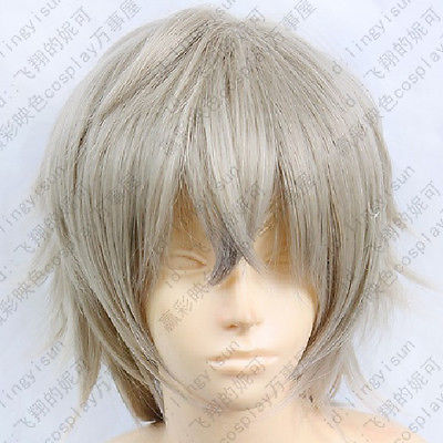 Wholesale& heat resistant LY free shipping>>  Inu x Boku SS Miketsukami Soushi Cosplay Costume grey Wig