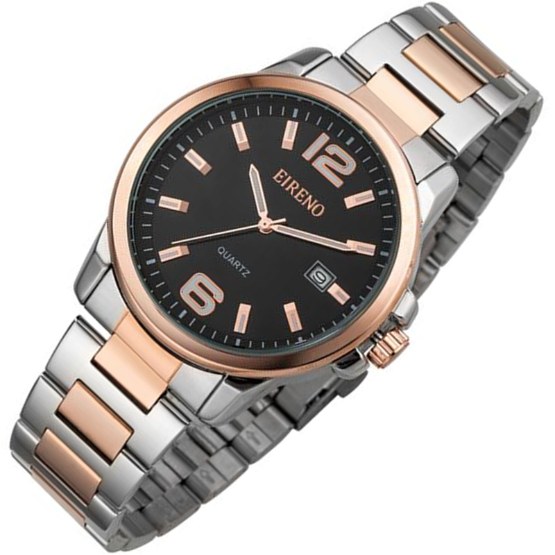 El Reno Brand Men Watch Loves Quartz-Watch Dress Clock Fashion Full Steel Band Japan movement Wristwatch 30m Water Resistant<br><br>Aliexpress
