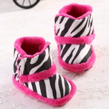 2015 Newborn Baby Winter Super Warm Cute Kids Infant Toddler Boots Shoes Zebra Baby Indoor Shoes Anti-slip Footwear Baby Boots(China (Mainland))