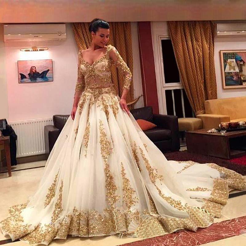 High Quality Gold Beaded Wedding Dress Promotion-Shop for High ...
