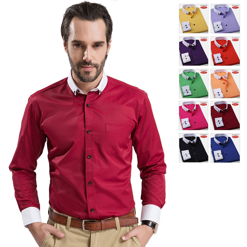 Free shipping men s shirts high quality dress shirt for Buy white dress shirt