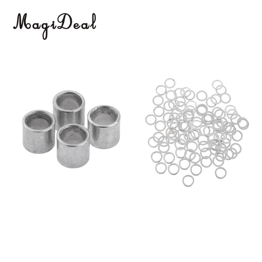 Longboard Hardware Set 100 Pieces Speed Washers + 4 Pieces Spacers Outdoor Skateboard Long Board Accessories
