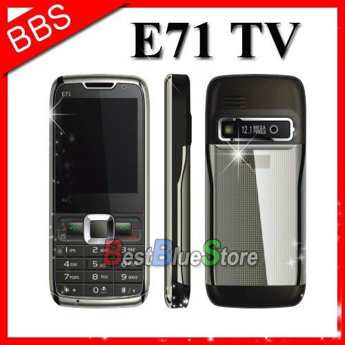 Free shipping cheap dual sim mini e71 tv phone(China (Mainland))