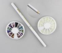 3pcs/set 3000pcs Nail Decoration Rhinestone & Pearl Product Kit With Dotting Pen For UV Gel Acrylic Systems Beauty Desgin 718