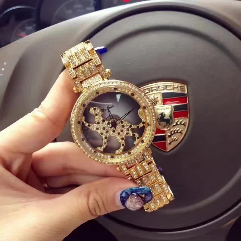 Лучшие Качества Женщины Часы Из Нержавеющей Стали Часы Lady leopard Вращения Платье Часы Luxuty Наручные Часы Розовое Золото Часы Для Женщин
