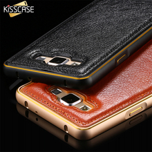 Buy KISSCASE Phone Case Samsung Galaxy A5 A7 Luxury Leather + Aluminum Metal Frame Case Cover Samsung Galaxy A5 A500 A7 A700 for $3.59 in AliExpress store