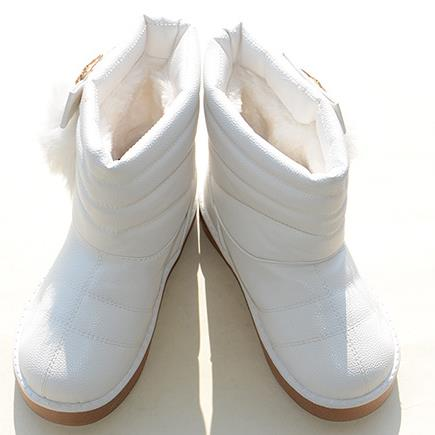Children's boots 2016 new winter girls fashion with velvet thickening antiskid princess waterproof boots kids botas infantis 346(China (Mainland))