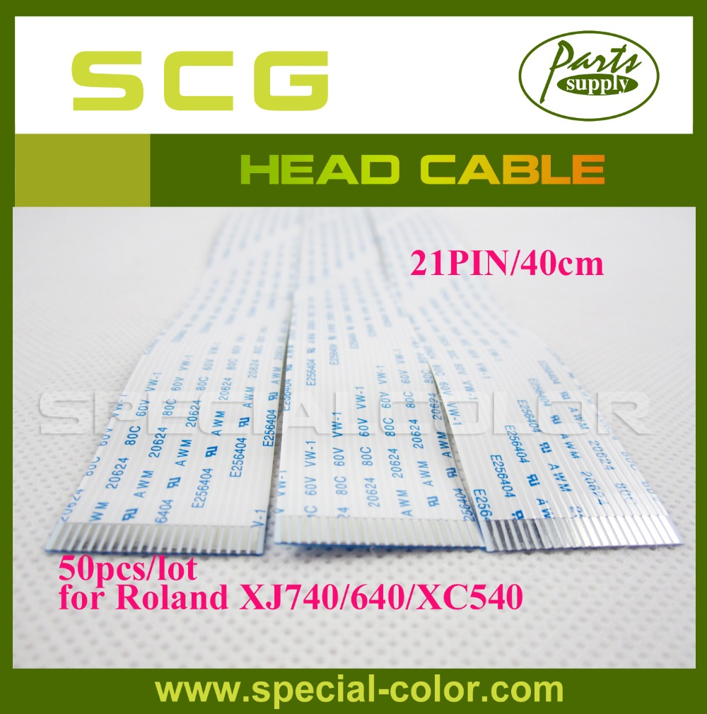 Фотография Low Price 50pcs/pack 40cm/21PIN Roland DX4 Solvent Print Head Cable for Xj740/XC540/Mutoh Spitfire