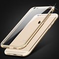 0.3mm Ultrathin! Metal Aluminum + Clear Hard Back Case for Apple iphone 6 6S 4.7 / 6 6S Plus 5.5 Transparent Hybrid Cover Armor