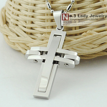 Christmas Gift, free shipping, 316l stainless steel Cross Pendant Necklace, Fashion Jewellery Cross, Wholesale