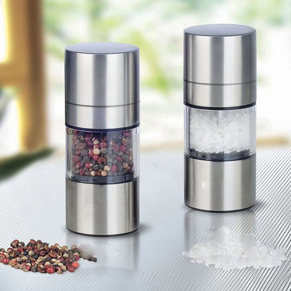 High Quality Stainless Steel Manual Salt Pepper Mill Grinder Portable Kitchen Mill Muller Tool E#CH(China (Mainland))
