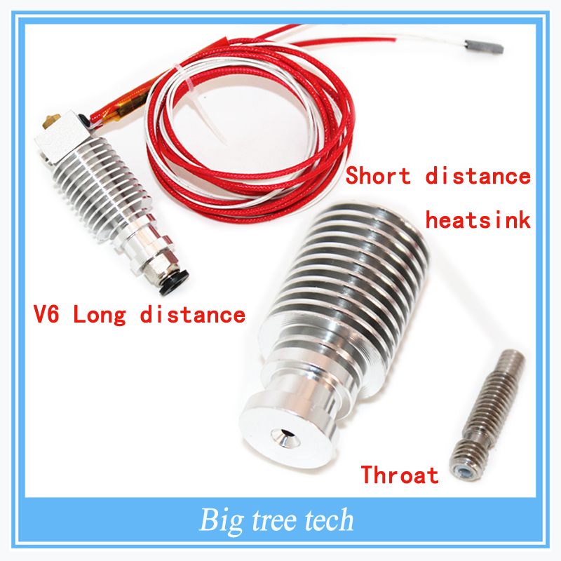 Free shipping E3D V6 Long distance J-head Hotend for 1.75/3mm  Bowden Extruder  with the short distance heatsink and throat<br><br>Aliexpress
