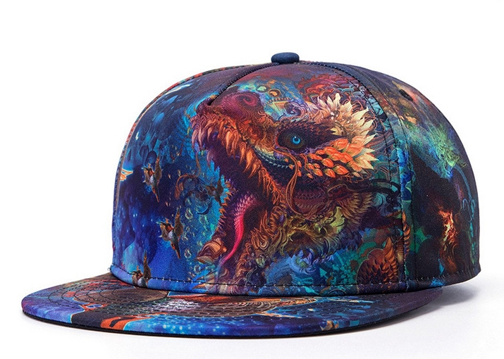 New fashion hip-hop baseball caps for men and women casual 3D printing cap punk hat street dance hiphop hats high quality(China (Mainland))