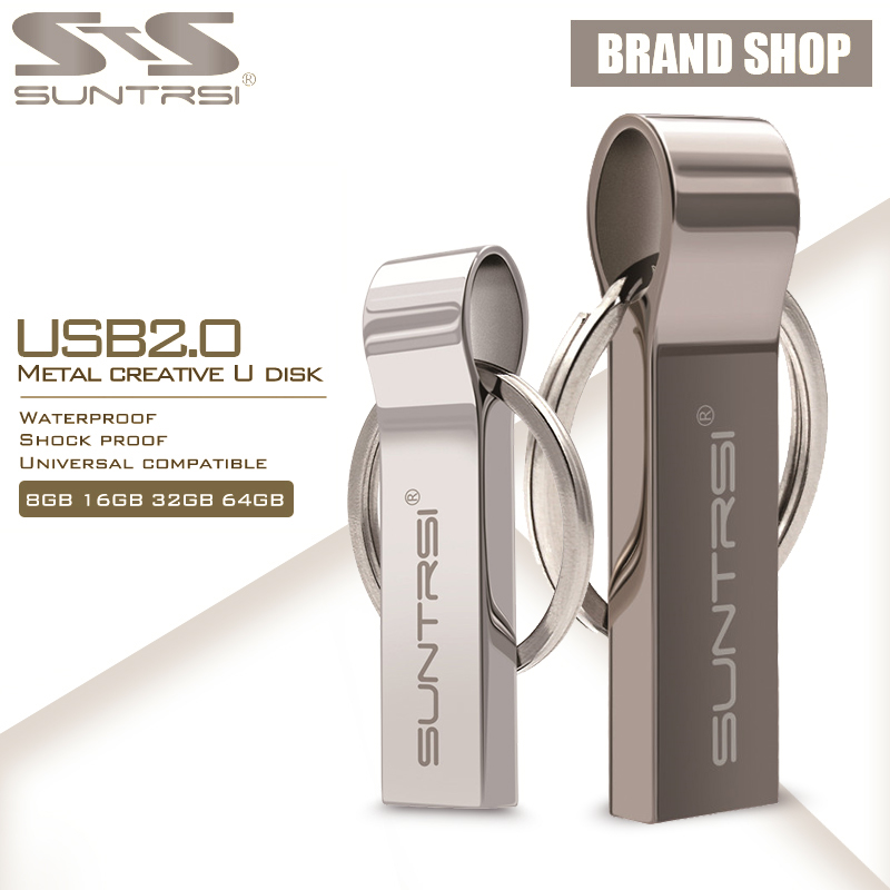 Suntrsi USB Flash Drive 64GB Metal Steel Pen Drive High Speed Pendrive Key Chain USB Stick Flash Drive Memory USB Flash Freeship(China (Mainland))