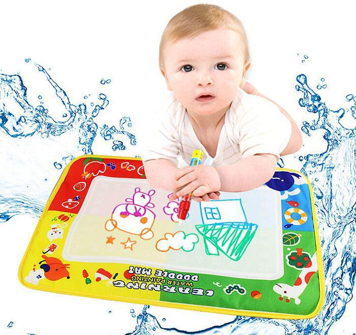 46*30CM drawing toy four colors water drawing cloth Aqua Doodle draw Mat Magic Pen learning & educational baby toy(China (Mainland))