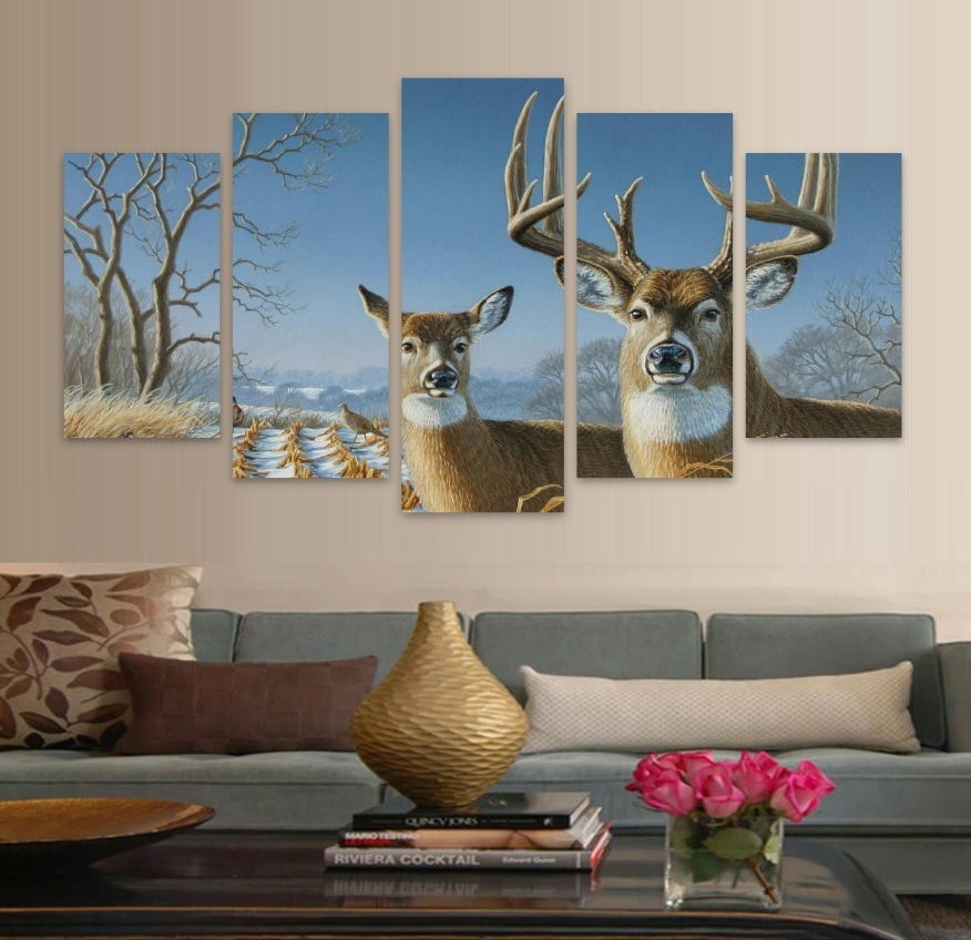 Deer Nature HD Canvas Wall Art FREE SHIPPING