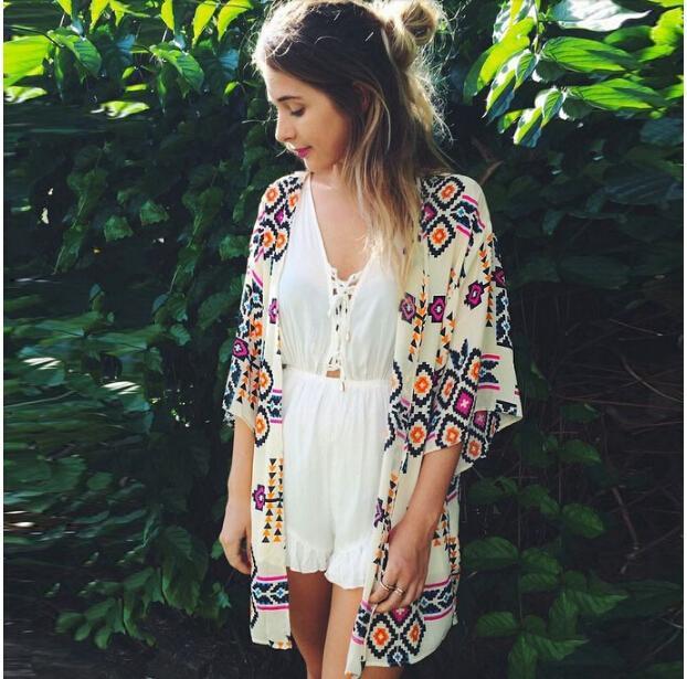 Женские блузки и Рубашки Women kimono 2015 camisas femininas blusas vintage LQ8767D