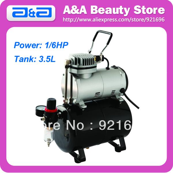 Здесь можно купить  Portable Single Cylinder Piston Airbrush Air Compressor 1/6HP with 3.5 Liter Tank  Инструменты