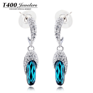 Hot sale T400 made with swarovski elements crystal earring,for women, Multi-color#2888,free shipping<br><br>Aliexpress