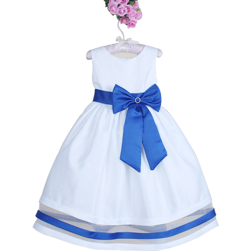 2015 Baby Girls Party Dresses Tutu Big Bowknot Infant Kids