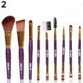 9Pcs Professional Cosmetic Blush Lip Makeup Brush Eyebrow Eyeliner Beauty Brushes Tool Set Chic Design