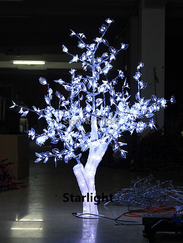 1.5m/5ft LED Artificial Crystal Cherry Blossom Tree Light Outdoor Holiday Lighting Christmas Light 480pcs LEDs Free Shipping(China (Mainland))